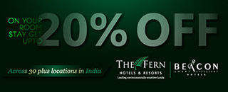 Get upto 20% OFF on The Fern Hotels and Resorts